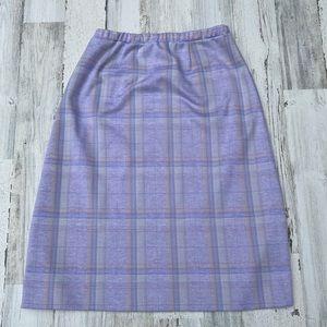 Vintage 70s Plaid Aline Midi Skirt